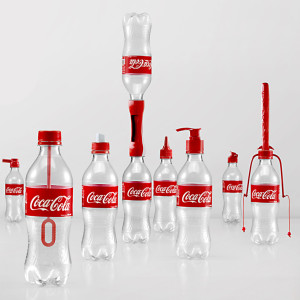Many reuses of Coke bottles