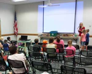 Students learn about curbside recycling in Brevard County