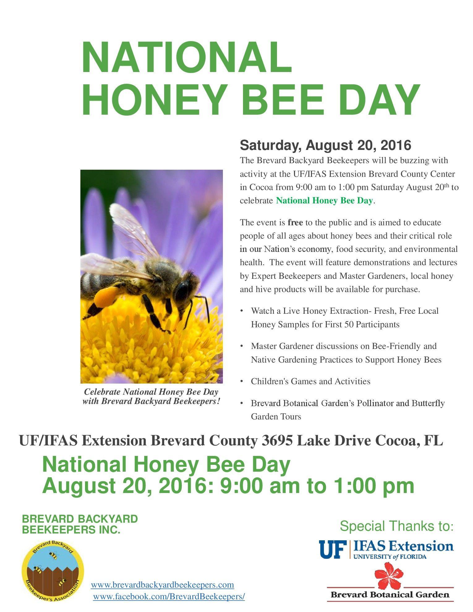 national honey bee day celebration